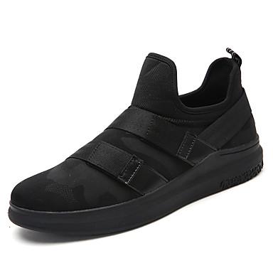 Homens sapatos Tule Primavera / Outono Conforto Tênis Caminhada Preto / Preto / Vermelho / Branco / Preto