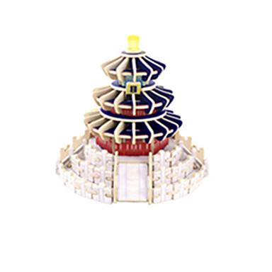 voordelige 3D-puzzels-3D-puzzels Beroemd gebouw Chinese architectuur tempel van de Hemel Plezier Hout Klassiek Kinderen Unisex Speeltjes Geschenk