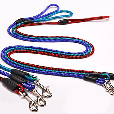 Hund Leinen Hundehalsband Regolabile / Einziehbar Rot Blau Zufällige Farben Dunkelgrün