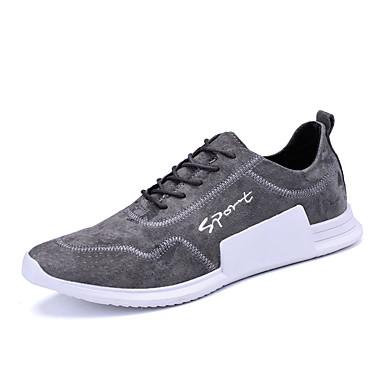 Férfi cipő Szatén Ősz / Tél Kényelmes Sportcipők Futócipő Fekete / Barna / Stétszürke