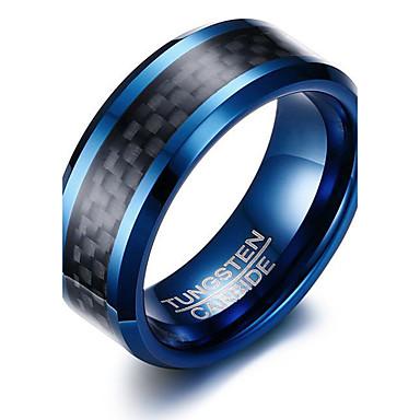 voordelige Herensieraden-Heren Ring Diverse Kleuren Roestvast staal Wolfraamstaal Rond Cirkelvorm Geometrische vorm Gepersonaliseerde Standaard Eenvoudige Stijl Feest Vuosipäivä Sieraden Tweekleurig