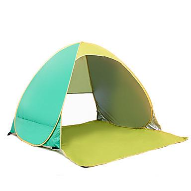 COME 2 사람 텐트 싱글 캠핑 텐트 원 룸 비치 텐트 휴대용 자외선 방지 용 캠핑 여행 스테인레스 CM