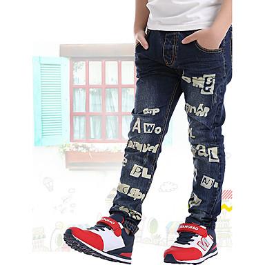 Infantil Para Meninos Diário / Escola / Para Noite Estampado Algodão Jeans Azul