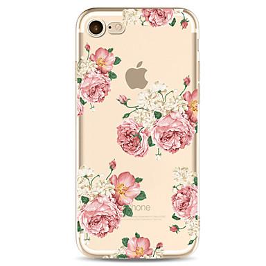 케이스 제품 Apple iPhone 7 Plus iPhone 7 투명 패턴 뒷면 커버 꽃장식 소프트 TPU 용 iPhone 7 Plus iPhone 7 iPhone 6s Plus iPhone 6s iPhone 6 Plus iPhone 6