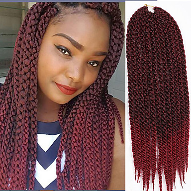 Used Braided box braid wigs with human hair closure for ... |Using Human Hair Box Braids