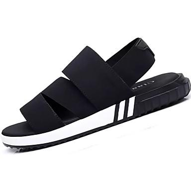 Homens sapatos Materiais Customizados Verão Conforto Sandálias Caminhada Combinação para Casual Preto