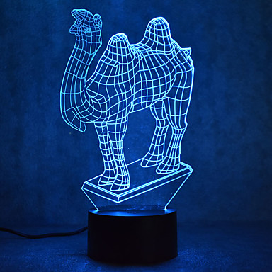 1 Pça. Luz noturna 3D USB Sensor Regulável Impermeável Cores Variáveis LED Moderno / Contemporâneo