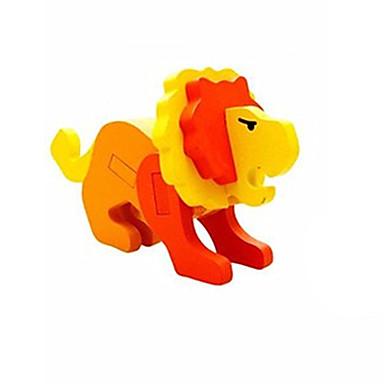 voordelige 3D-puzzels-3D-puzzels Steekpuzzels Houten modellen Leeuw Plezier Hout Klassiek Kinderen Unisex Speeltjes Geschenk