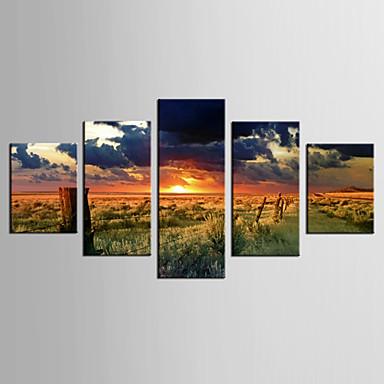 Giclée Print Landschaft Modern Ländlich,Fünf Panele Leinwand jede Form Druck Wand Dekoration For Haus Dekoration