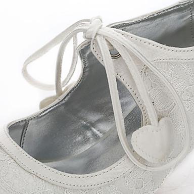 Talon Bout Femme Mariage Evénement Aiguille Automne Soirée de Hiver Soie amp; Chaussures Tulle Chaussures Dyeable 05769541 rond Confort mariage Chaussures Ivoire qCrfqaxwOP