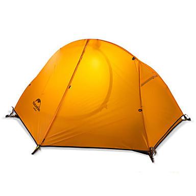 Naturehike 1 Pessoa Barracas de Acampar Leves Dupla Camada Poste Dome Barraca de acampamento Ao ar livre Á Prova-de-Chuva, Manter Quente, Dobrável para Acampar e Caminhar / Caça >3000 mm Silicone