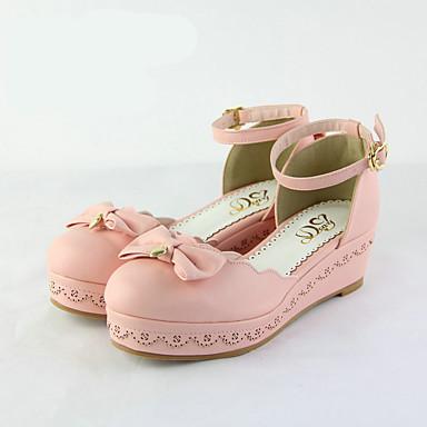 여성 구두 PU 봄 슬링백 보트 신발 청키 굽 제품 캐쥬얼 화이트 블랙 핑크