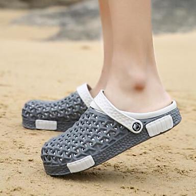 남성 구두 PU 봄 컴포트 구멍 신발 커플 신발 샌들 제품 캐쥬얼 그레이 퍼플 블루