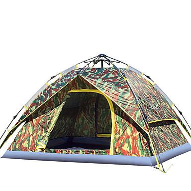 3-4 Pessoas Tenda Duplo Barraca de acampamento Um Quarto Tenda Automática Á Prova de Humidade Prova-de-Água A Prova de Vento Á