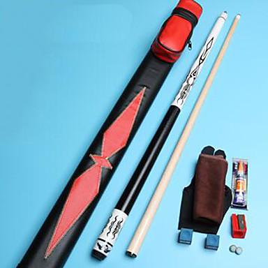 Zweiteilige Cue Cue Sticks & Zubehör Tische & Zubehör Snooker Blau Aufbewahrungshülle inklusive Multi-Tool Ahorn