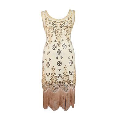 라틴 댄스 드레스 여성용 성능 스팽글 스팽글 민소매 내츄럴 드레스