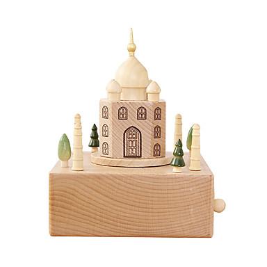 Caixa de música Madeira Quadrada Taj Mahal A Viagem de Chihiro Presente Unisexo Dom