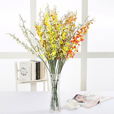 Flores artificiais 10 Ramo Estilo Moderno Orquideas Flor de Mesa