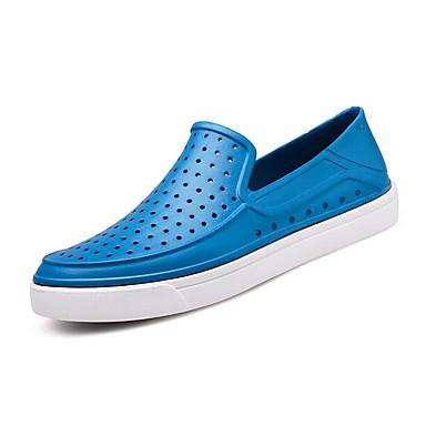 남성 구두 고무 봄 컴포트 구멍 신발 샌들 제품 캐쥬얼 네이비 블루 레드 밝은 블루