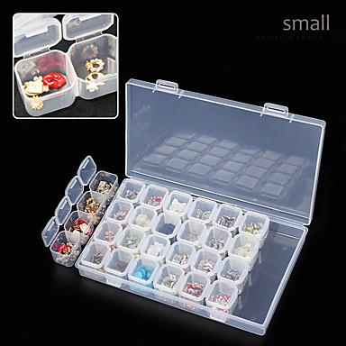1pç Caixa de armazenamento da arte do prego Jóias de Unhas arte de unha Manicure e pedicure Regular / Clássico / Universal Diário / Jóias de unha