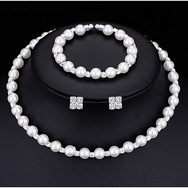 f89d343cd Women's AAA Cubic Zirconia Jewelry Set Pearl Necklace Ladies Fashion Earrings  Jewelry White For Wedding Party Engagement Gift Masquerade Engagement Party