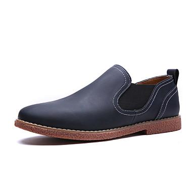 Herren Schuhe Mikrofaser Frühling Sommer Komfort Loafers & Slip-Ons Für Sportlich Normal Marinenblau Hellbraun Dunkelbraun