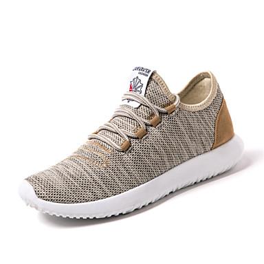 Homens sapatos Tule Primavera Verão Solados com Luzes Conforto Tênis Corrida Cadarço para Atlético Casual Ao ar livre Dourado Preto