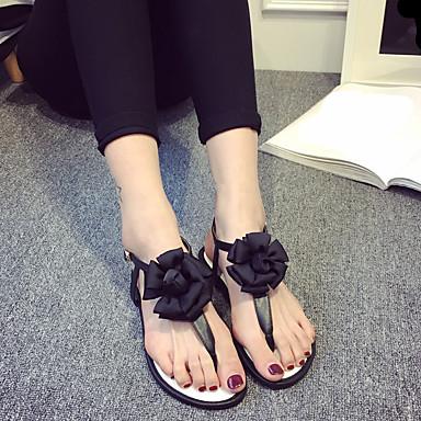 여성 구두 PU 여름 슬링백 샌들 플랫 제품 캐쥬얼 블랙 그레이 핑크