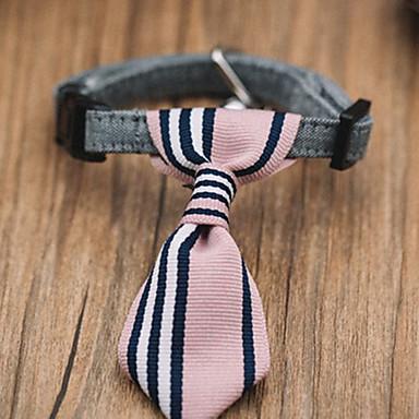 Gato / Cachorro Natal / Gravata / Gravata Borboleta Roupas para Cães Formais Rosa claro Tecido Ocasiões Especiais Para animais de