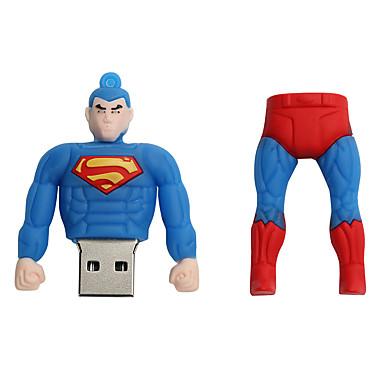 Novo cartoon criativo superman usb 2.0 128gb flash drive u memory stick disco