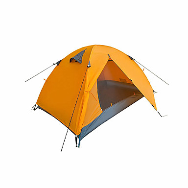 2 사람 텐트 더블 베이스 캠핑 텐트 원 룸 접이식 텐트 수분 방지 통풍 잘되는 방수 휴대용 방풍 자외선 방지 비 방지 먼지 방지 안티 곤충 폴더 모기&해충 퇴치 통기성 용 수렵 하이킹 피싱 바닷가 캠핑 여행 야외 1500-2000 mm 옥스퍼드