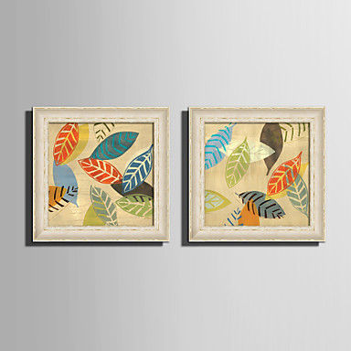 Framed Canvas Framed Set - Still Life Floral / Botanical PVC Oil ...
