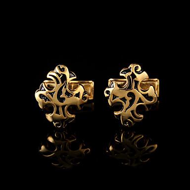 Forma Geométrica Prata / Dourado Botões de Punho Cobre Caixas de presente e Bolsas / Fashion Homens Jóias de fantasia Para