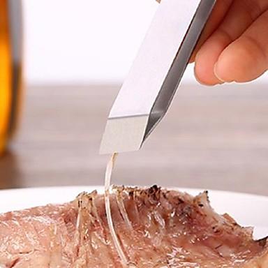 1pç Utensílios de cozinha Aço Inoxidável Gadget de Cozinha Criativa língua para peixe