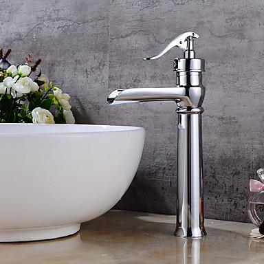 Torneira pia do banheiro - Pré Enxaguada / Separada Cromado Conjunto Central Monocomando Dois Buracos