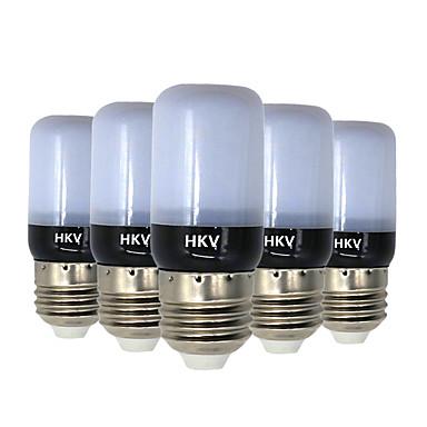 HKV 5pcs 3W 200-300lm E14 E26 / E27 أضواء LED ذرة 20 الخرز LED مصلحة الارصاد الجوية 5736 أبيض دافئ أبيض كول 220-240V