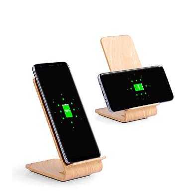 Suporte de madeira do carregador sem fio rápido de 10w para o iphone xs iphone xr xs iphone máximo 8 samsung s9 mais a nota do s8 8 ou o telefone esperto do receptor do qi do acessório