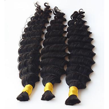 syvä aalto ihmisen punonta hiukset irtotavarana ei kude virkatut punokset kihara hiuksista mikro punokset kihara irtotavarana punosta