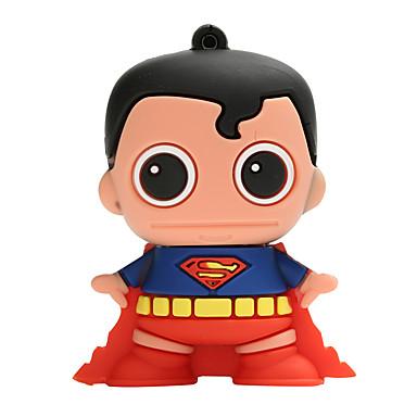 Novo cartoon criativo superman usb2.0 32gb flash drive u memory stick disco