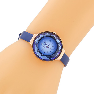 cheap Women's Watches-Women's Fashion Watch Japanese Quartz Quilted PU Leather Black / Blue / Brown 30 m Imitation Diamond Analog Ladies Vintage Casual - Black Coffee Blue One Year Battery Life