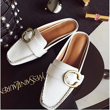 Damen Schuhe PU Frühling Komfort Loafers & Slip-Ons Für Normal Weiß Schwarz