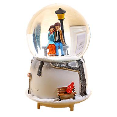 Caixa de música Globo de neve Esfera Presente Rotativo Crianças Adulto Infantil Dom Unisexo