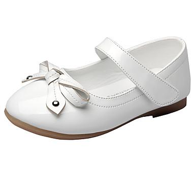 Para Meninas Sapatos Courino Primavera Conforto Rasos Laço Velcro para Festas & Noite Branco Preto Vermelho