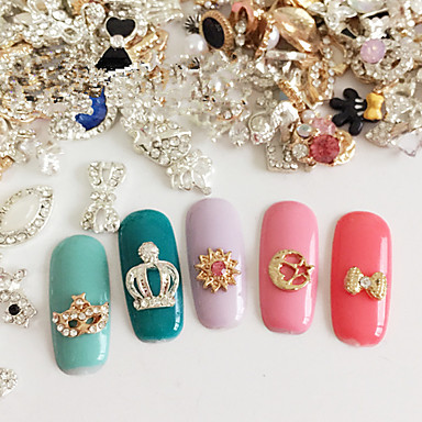 5 pcs Fashion Nail Art Design Diário / Metal