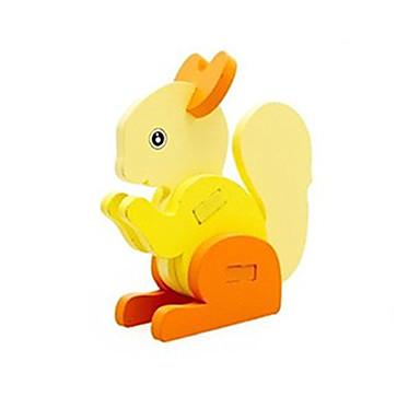voordelige 3D-puzzels-3D-puzzels Steekpuzzels Houten modellen Eekhoorn Plezier Hout Klassiek Kinderen Unisex Speeltjes Geschenk