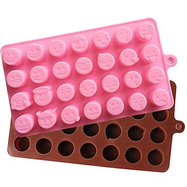 Ferramentas bakeware Silicone Férias / 3D / Aniversário Chocolate / Gelo / para Candy Desenhos Animados 3D Molde 1pç
