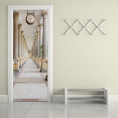 건축물 벽 스티커 3D 월 스티커 데코레이티브 월 스티커, 비닐 홈 장식 벽 데칼 벽