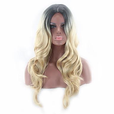 Umělé vlasy paruky Vlnitá Bez krytky Cosplay paruka Dlouhý Blonďatá