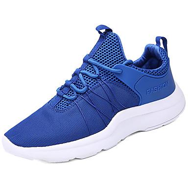 Homens sapatos Couro Ecológico Primavera Verão Conforto Tênis Caminhada para Casual Branco Preto Vermelho Azul