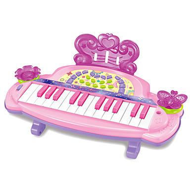 Acessório para Casa de Boneca Teclado Eletrônico Piano Diversão Plásticos Crianças Para Meninas Dom